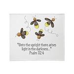 Fireflies & Bible Scripture Throw Blanket