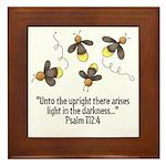 Fireflies & Bible Scripture Framed Tile