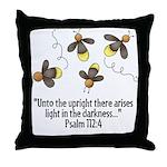 Fireflies & Bible Scripture Throw Pillow