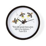 Fireflies & Bible Scripture Wall Clock