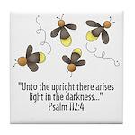 Fireflies & Bible Scripture Tile Coaster