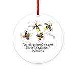 Fireflies & Bible Scripture Ornament (Round)