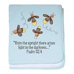 Fireflies & Bible Scripture baby blanket