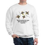 Fireflies & Bible Scripture Sweatshirt