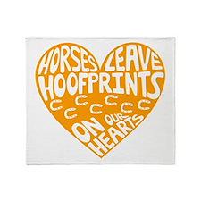 Hoofprints Throw Blanket