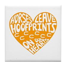Hoofprints Tile Coaster