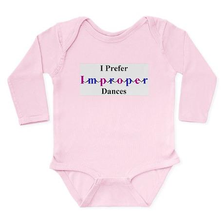 Improper Dances Long Sleeve Infant Bodysuit