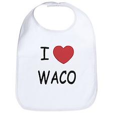 I heart waco Bib