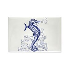 Clockwork seahorse steampunk Rectangle Magnet