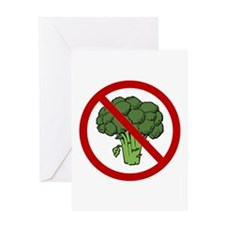 No Broccoli Greeting Card