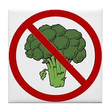 No Broccoli Tile Coaster