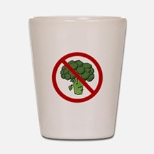 No Broccoli Shot Glass