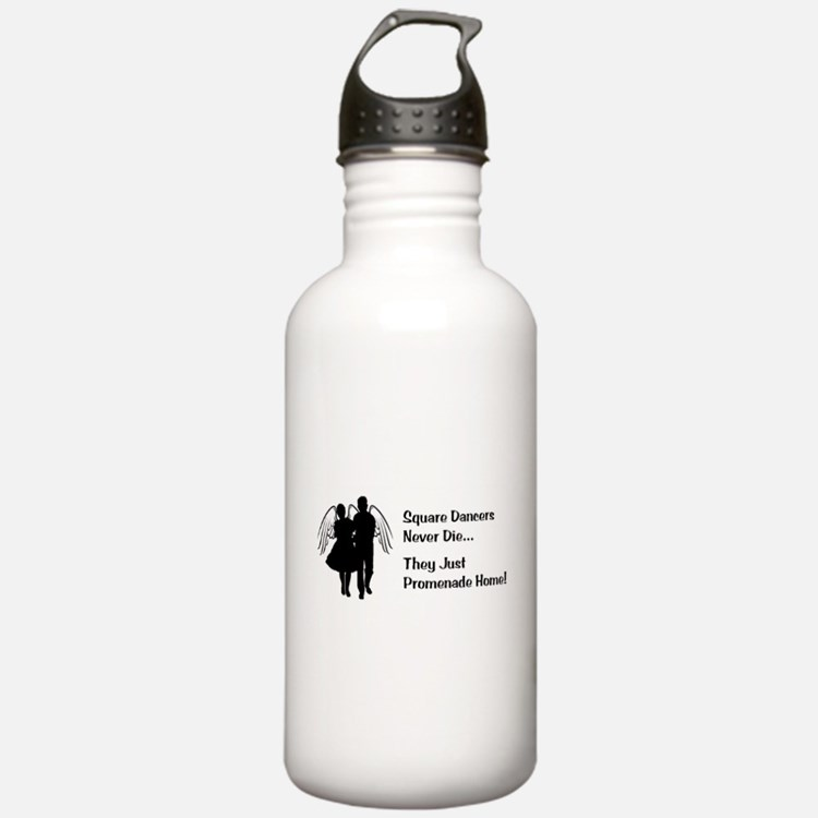 Square Dancers Never Die Water Bottle
