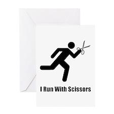 Run With Scissors Greeting Card