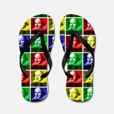 Pop Art Shakespeare Flip Flops