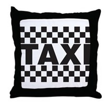 Taxi Throw Pillow