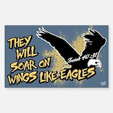 Soar on Wings like Eagles Sticker (Rectangle)