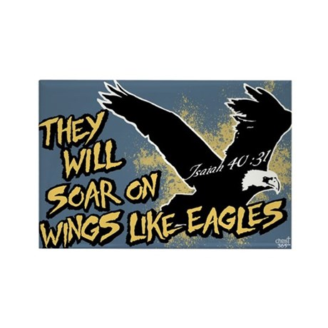Soar on Wings like Eagles Rectangle Magnet