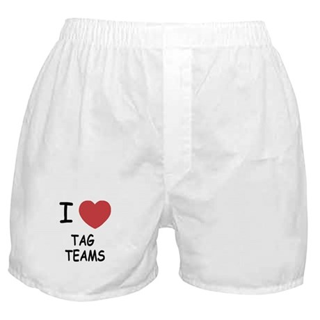I heart tag teams Boxer Shorts
