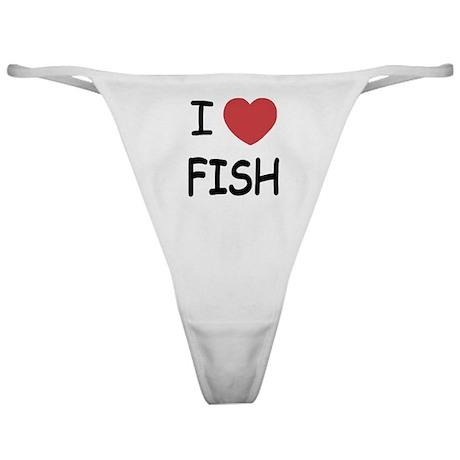 I heart fish Classic Thong