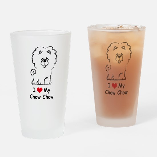 Chow Chow Drinking Glass