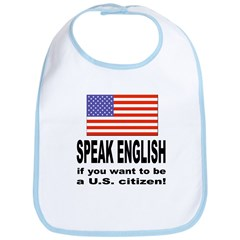 Speak English Bib