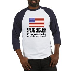 Speak English (Front) Baseball Jersey