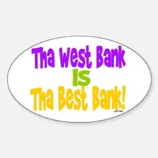 WEST BANK - BEST BANK Oval Decal