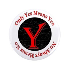 """Only Yes Means Yes 3.5"""" Button"""