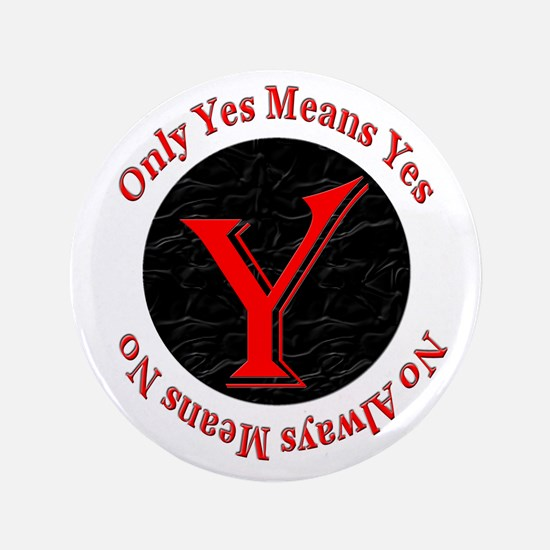 "Only Yes Means Yes 3.5"" Button"