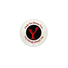 Only Yes Means Yes Mini Button (100 pack)