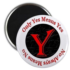 """Only Yes Means Yes 2.25"""" Magnet (100 pack)"""