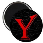 "Only Yes Means Yes Y-Circle 2.25"" Magnet (10"