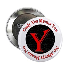 """Only Yes Means Yes 2.25"""" Button (100 pack)"""