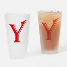 Y - Yes Means Yes Drinking Glass
