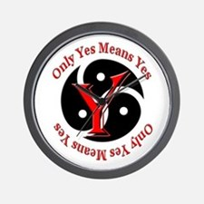 Only Yes Means Yes BDSM Wall Clock