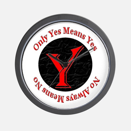 Only Yes Means Yes Wall Clock