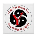 Only Yes Means Yes BDSM Tile Coaster