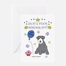 Miniature Schnauzer Greeting Card