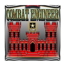 Army Sapper Badge Combat Engineer Tile Coaster