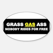 """GRASS """"GAS"""" ASS Oval Decal"""