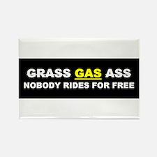 """GRASS """"GAS"""" ASS Rectangle Magnet"""