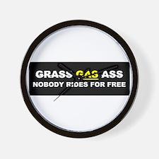 """GRASS """"GAS"""" ASS Wall Clock"""