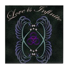 Love is Infinite Tile Coaster