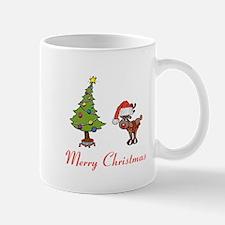 Reindeer and Christmas Tree Mug