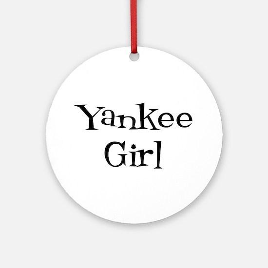 Yankee Girl Ornament (Round)