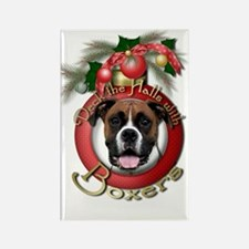 Christmas - Deck the Halls - Boxers Rectangle Magn