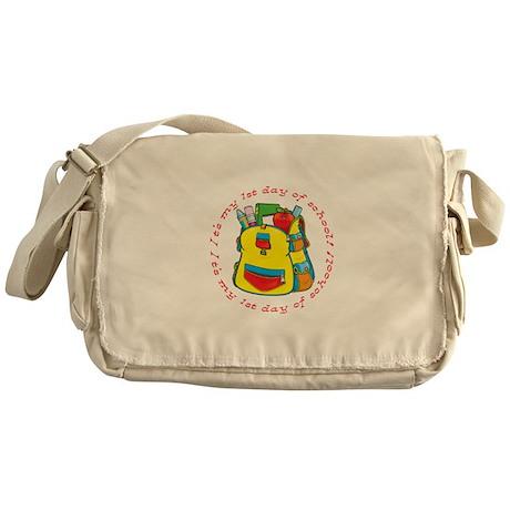 First 1st Day of School Messenger Bag