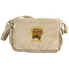School Bus Kids Messenger Bag