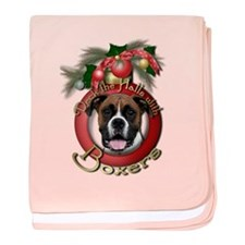 Christmas - Deck the Halls - Boxers baby blanket